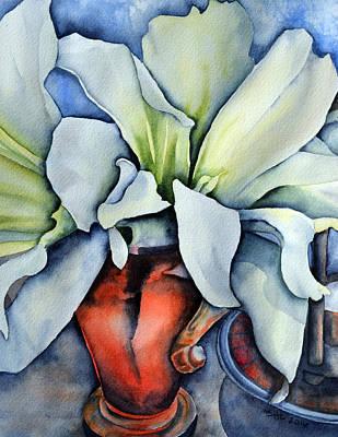 Amaryllis Watercolor Painting - Amaryllis by Sandra Hedicke Clark