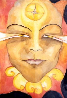 Amaterasu Art Print by Erika Brown