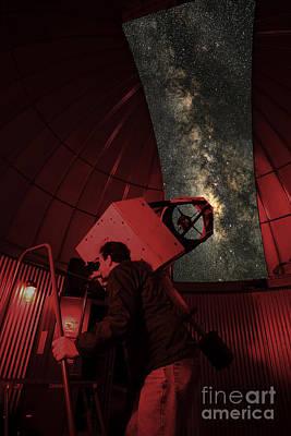 Photograph - Amateur Astronomer by Larry Landolfi