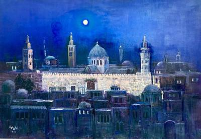 Painting - Amawee Mosquet  At Night by Laila Awad Jamaleldin