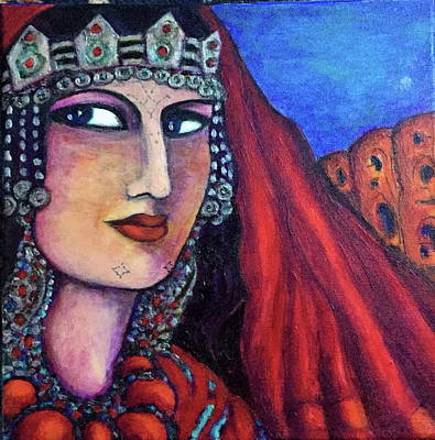 Painting - Amazigh Beauty 1 by Rae Chichilnitsky