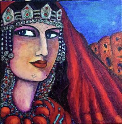 Painting - Amazigh Beauty 1 by Rae Chichilnitsky