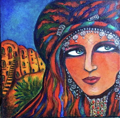 Painting - Amazigh Beauty 2 by Rae Chichilnitsky