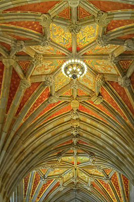Photograph - Amazing Ceiling At Yale University by Dave Mills