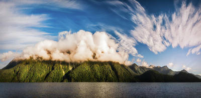 Photograph - Amazing Cloud Formation At Lake Manapouri In New Zealand by Daniela Constantinescu