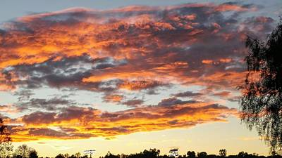 Photograph - Clouds On Fire by Richard Yates