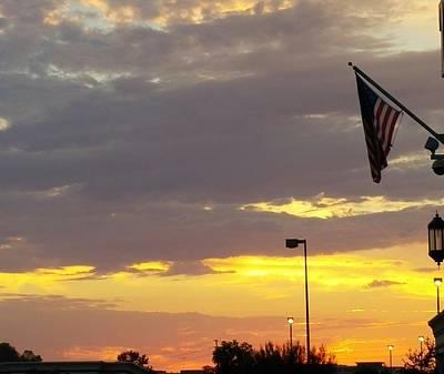 Photograph - Patriotic Sunset by Richard Yates