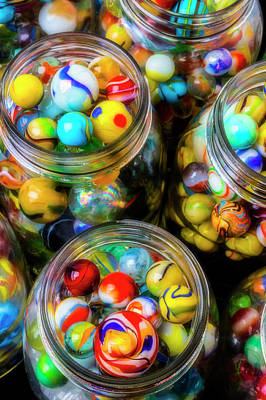 Photograph - Amazing Collection Of Glass Marbles by Garry Gay