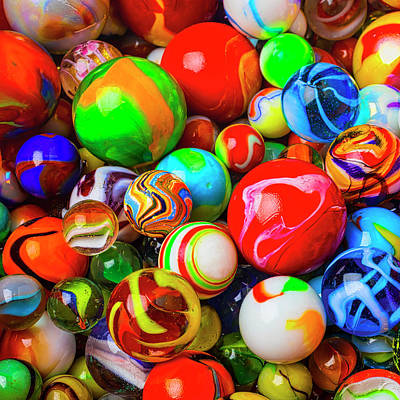 Photograph - Amazing Colorful Marbles by Garry Gay