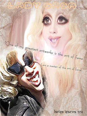 Digital Art - Amazing Gaga by Larisa Isaeva