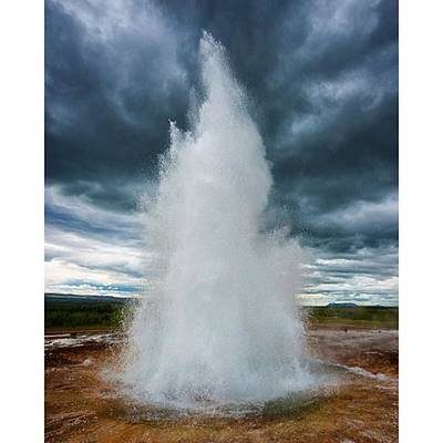 Power Photograph - Amazing Geysir In Iceland by Matthias Hauser