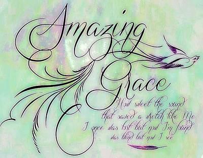 Wretch Digital Art - Amazing Grace by Elizabeth Mix