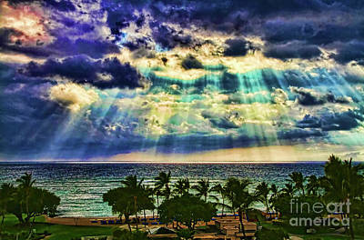 Photograph - Amazing Grace - Sun Rays Before Sunset By Diana Sainz by Diana Raquel Sainz
