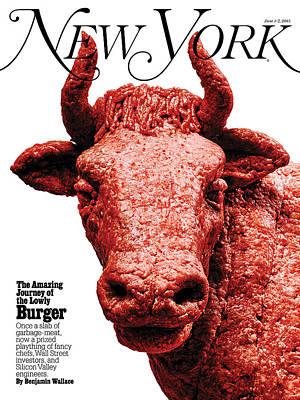 The Amazing Journey Of The Hamburger Art Print