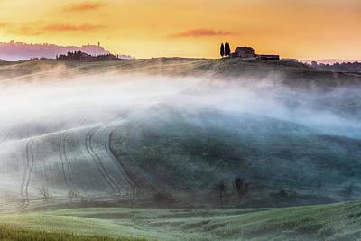 Amazing Landscape Of Tuscany Art Print by Evgeni Dinev