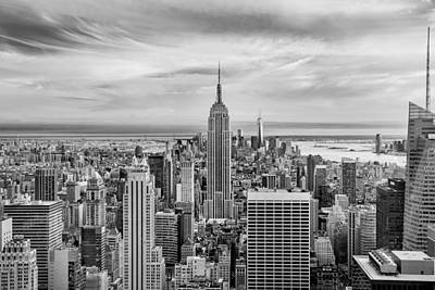 Amazing Manhattan Bw Art Print by Az Jackson
