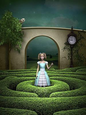 Mixed Media - Amazing Maze by Britta Glodde