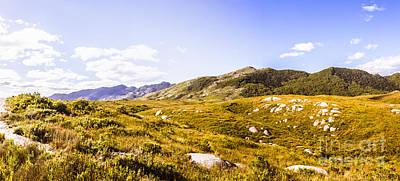 Amazing Mountain Panorama Landscape Art Print