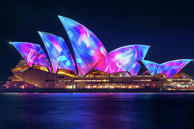 Photograph - Amazing New Designs On The Opera House At Vivid Sydney by Daniela Constantinescu