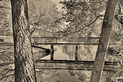 Photograph - Amazing Reflections At Sesquicentennial State Park Black And White by Lisa Wooten