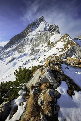 Photograph - Amazing Scene Of Alpspitze Mountain. Bavarian Peak Near Garmisch Partenkirchen, Bavaria, Germany. by Marek Kijevsky