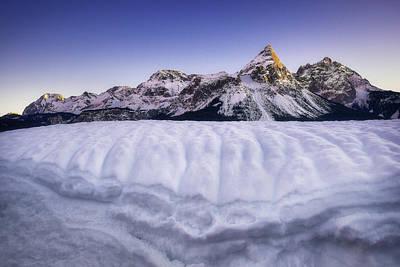 Photograph - Amazing Scene Of Sonnenspitze Mountain. Typical Winter Scene Near Ehrwald, Tirol, Austria. by Marek Kijevsky