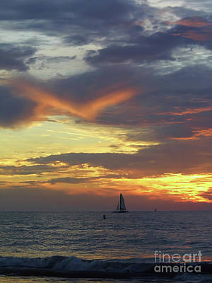 Photograph - Amazing Sky At Sunset by D Hackett