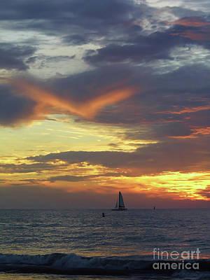 Amazing Sky At Sunset Art Print