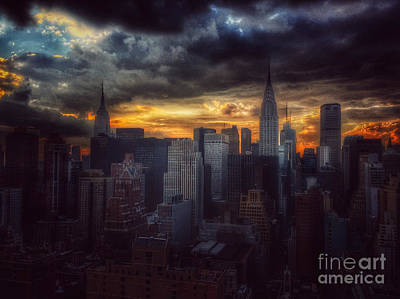 Photograph - Amazing Skyline Of Manhattan - New York City by Miriam Danar