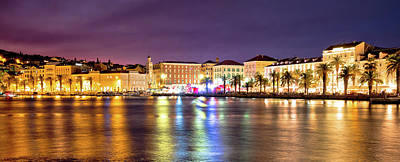 Photograph - Amazing Split Waterfront Evening Panorama by Brch Photography
