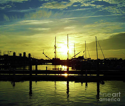 Blue Pirate Ships Landscape Photograph - Amazing St Augustine Sunrise by D Hackett