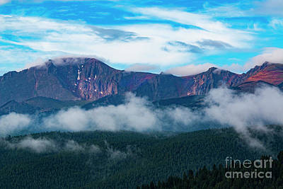 Steven Krull Royalty-Free and Rights-Managed Images - Amazing Sunrise on Pikes Peak Colorado by Steven Krull
