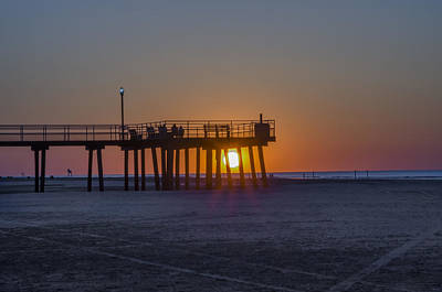 Pier Digital Art - Amazing Sunrise - Wildwood Crest by Bill Cannon