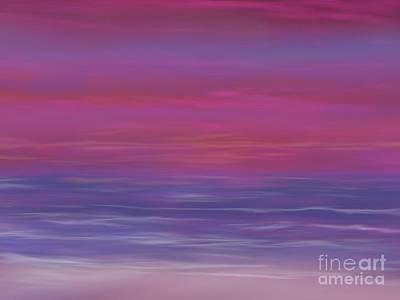 Amazing Sunset Art Print by Roxy Riou