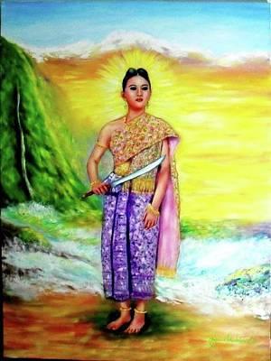 Painting - Amazing Thailand by Wanvisa Klawklean