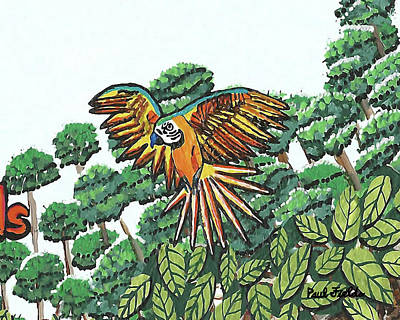Painting - Amazon Bird by Paul Fields