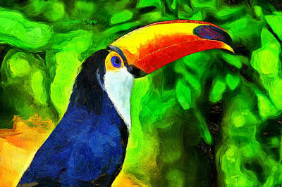 Toucan Digital Art - Amazon Forest Tucano - Da by Leonardo Digenio