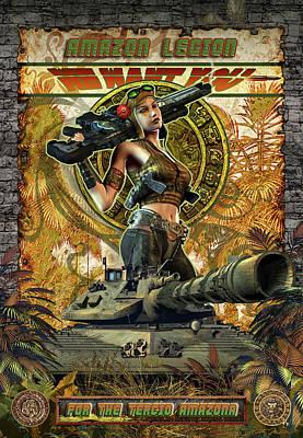 Soldiers Mixed Media - Amazon Legion by Kurt Miller