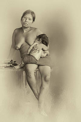 Photograph - Amazon Mother And Child by Maria Coulson