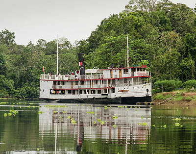 Photograph - Amazon Research Ship Ayapua by Allen Sheffield