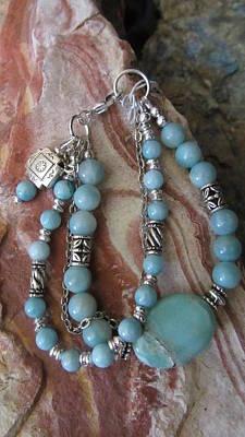 Jewelry - Amazonite #b008 by Barbara Prestridge