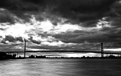 Ambassador Bridge Print by Brandon Broderick
