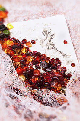 Art Print featuring the photograph Amber #8925 by Andrey  Godyaykin