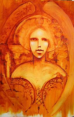 Centering Painting - Amber Angel by Larkin Chollar