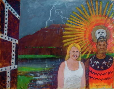 Painting - Amber At The Pyramid Of The Sun Mexico City by Frank Hunter