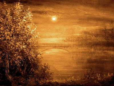 Amber Bridge Art Print by Ann Marie Bone