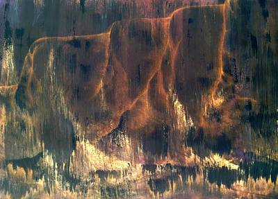 Beautiful Mixed Media - Amber Cliffs by Catlin Perry