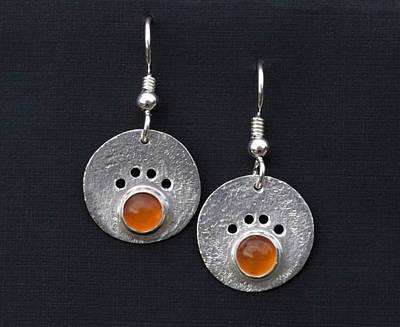 Canine Jewelry Jewelry - Amber Dog Paw Earrings by Heather  Hamilton
