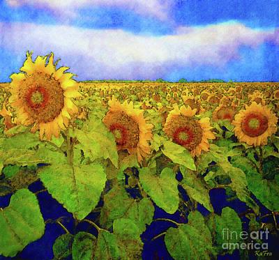 Amber Field Art Print by KaFra Art