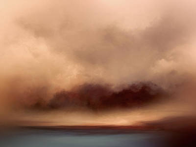 Abstract Landscape Royalty-Free and Rights-Managed Images - Amber Horizon by Lonnie Christopher
